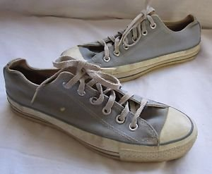 Vintage Converse All Star Canvas Lo Powder Blue Athletic Shoes Mens 6.5 USA USED