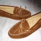 Minnetonka Moccasins Slip On Fleece Shearling Lined Slippers Shoes Womens 10