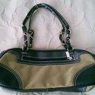 """Sydney Love Designer handbag purse pocketbook leather 13.5"""" blue brown tan"""