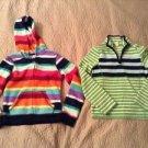 Lot of 2 Girls Old Navy Soft Fleece 1/4 full zip up hoodie sweatshirt Jacket M 8