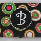 "MSC Mainstreet Collection Monogrammed ""B"" Wallet Dots Circles Metal Clasp Hinged"