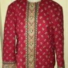 Vintage 1991 Retired Vera Bradley Indiana Apple  Quilted jacket Blazer Coat L