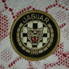 Vintage Jaguar Embroidered Automobile Checkered Flag Circle Patch Cat Animal
