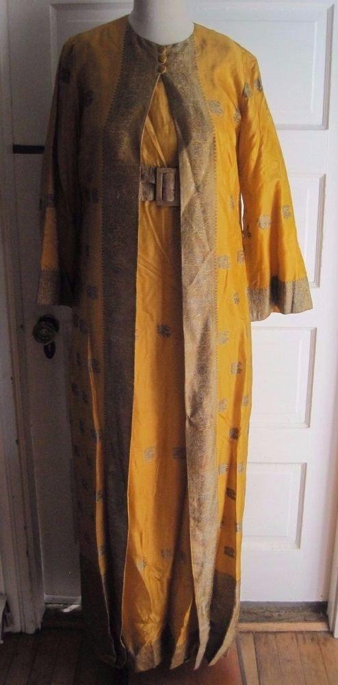 Amber Gowns Bombay Traditional Bali India Tribal Kaftan Maxi Festival Dress Coat