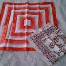 Lot of 2 Vintage Jordan Marsh Scarf Scarves Handkerchiefs Headwrap Japan Mod 50s