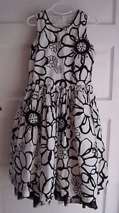 Girls 10 Children's Place Floral Sequins Swing Flounce Weighted Cotton Sun Dress