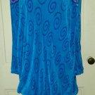Vintage Virginie Paris Accordion Pleated Bubble Tiered Cowl Neck Dress Womens L