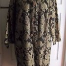 Vintage Count Romi Gold Floral Military Asian Silk Coat Womens L Steampunk Woven