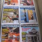 Fine Homebuilding Back Issues Magazines Lot of 6 Entire Year 2011 DIY Remodeling