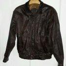 Vintage Hunting Horn Classics Leather Flight Bomber Aviator Biker Zip Up Jacket