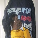 Platinum FUBU Fat Albert Hip Hop Rapper Denim Jean Jacket Mens XXL Hey Hey Hey