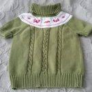 Gymboree Short Sleeve Turtleneck Yolk Knit Sweater Butterflies Girls L (10-12)