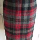 VINTAGE 1950s Womens Pendleton Red Virgin Wool Tartan Scotch Plaid Skirt 14 USA