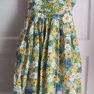 Vintage Girls 7 Jayne Copeland Pleated Floral Midi Tea Party Tie Waist Dress