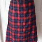 Pendleton Woolen Mills 100% Wool Manson Tartan Scotch plaid Skirt womens 34 Plus
