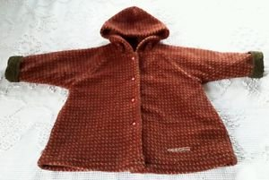 Vtg Girls Magi Legende d'Automne Fleece Quilted Lined Hooded Jacket Coat 3X 3T