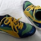 PUMA Cross Trainers Sneakers Shoes Art No. 348450 08 Womens size 5 Blue Yellow