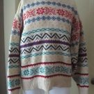 American Eagle 80s 90s Wool Knit Sweater Nordic Fair Isle Bright Loud Mens L USA