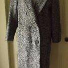 Womens Bert Newman Petite Wool Herringbone Tweed Double Breasted Dress Coat 12P