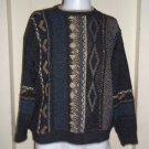 Vintage Retro 80s Mens Iago Knit Multi Color Sweater Cosby Ugly Biggie S Italy