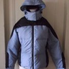 Womens LL Bean Hooded Puffer Colorblock Goose Down Cold Weather Jacket Parka M
