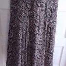 Womens Liz Claiborne Paisley Handkerchief Asymmetrical Hem Skirt 10P Lightweight