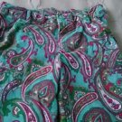Girls Hartstrings Paisley Print Corduroy Pants size 7 green pink Heartstrings