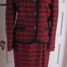 Womens Pendleton Wool Tartan Plaid 100% virgin wool jacket blazer skirt suit 10