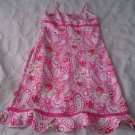 Limited Too 2 brand Spaghetti Strap paisely print sundress size 14 girls pink