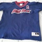 Boston Red Sox Pullover EMBROIDERED Sewn Jersey Shirt Youth size Large 12-14