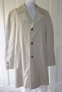 Vintage Wingflite Norseman Cloth All Weather Water Repellent Trench Coat 40 Long