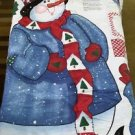 "Daisy Kingdom 1997 Snowman Door Panel Landi Gore-Evans #3768 Cut & Sew 43"" Tall"