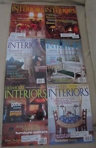 Old House Interiors Back Issues Magazines Lot 6 Entire Year 2002 DIY Remodeling