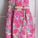 Girls 12 Disorderly Kids Floral Midi Ribbon Bow Sash Swing Party Holiday Dress