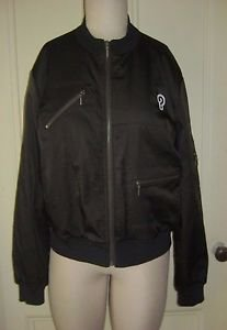 Yansi Fugel Moto ? Question Mark Logo Motorcycle Quilted Lining Jacket Womens L