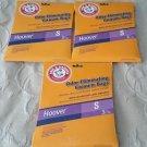 Lot of 3 Arm & Hammer Odor Eliminating Vacuum Bags Hoover S 3 packs WindTunnel +