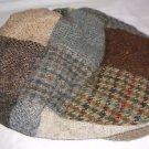 Mens Hanna Hats of Donegal Ireland Wool Tweed Patchwork Newsboy Cabbie Cap Hat M