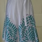 The Bagshaw's of St. Lucia W.I. Screen Printed Wrap Around Skirt womens M Ferns