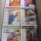Fine Homebuilding Back Issues Magazines Lot of 6 Entire Year 2009 DIY Remodeling