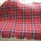 """Vintage Pendleton 100% Virgin Wool Fringed Throw Stadium Shawl Blanket 46"""" x 65"""""""