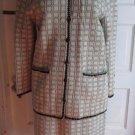 Vintage Leamond Dean Boucle Tweed Jacket Skirt Suit LD Buttons M Mid Century USA