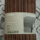 """Ikea of Sweden Venny Design Barbro Petersson 57"""" x 87"""" Brown Striped Tablecloth"""