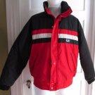Vintage 1987 CB Sports Puffer Colorblock Striped Parka Ski Jacket Mens Unisex ML
