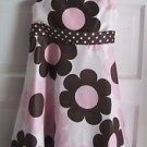Girls Rare Too! 6x Polka Dotted Floral Midi Ribbon Bow Sash Swing Party Dress