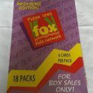SEALED TRADING CARDS Fleer 1995 Fox Kids Network Box Sales Only! 18 Packs of 6
