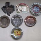 LOT of 7 VINTAGE ASHTRAYS TOURISM TRAVEL STATES PAINTED METAL COLLECTIBLES JAPAN