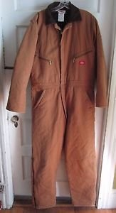 Dickies Men's Insulated Quilted Winter Duck One Piece Suit Coveralls 42 44 Reg
