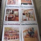 Fine Homebuilding Back Issues Magazines Lot of 6 Entire Year 1991 DIY Remodeling