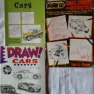 Draw! It 50 Cars, Trucks and Motorcycles Step by Step Guide Books Dragsters