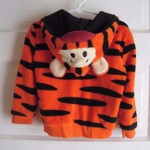 Disney Baby Fleece Tigger Hoodie Full Zip Up Hooded Jacket Boys Girls 24 months